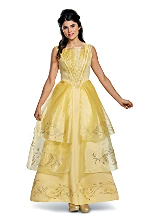 Amazon.com: Adult Princess Belle Ball Gown Disneys Beauty and the Beast 20954: Clothing