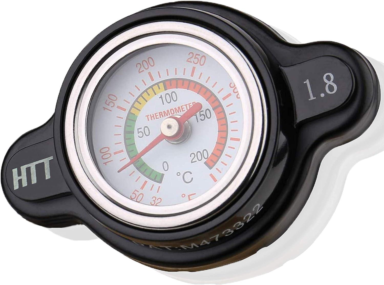 AiCooler Radiator High-Pressure Temperature Gauge Cap for Most 2017-2020KTM 25.6PSI Model: MAJ1 Black Husqvarna and some Japanese Motorcycle 1.8Kg//cm2