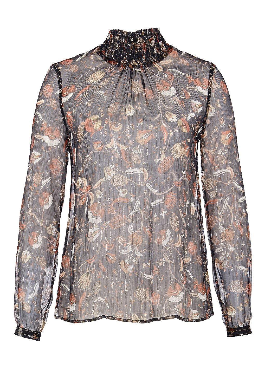 HALLHUBER Silk blouse with Lurex pinstripes