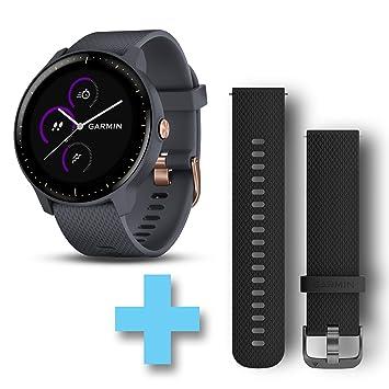 Pack Vivoactive 3 avec bracelet silicone noir supplémentaire pour adapter votre montre à tous vos styles