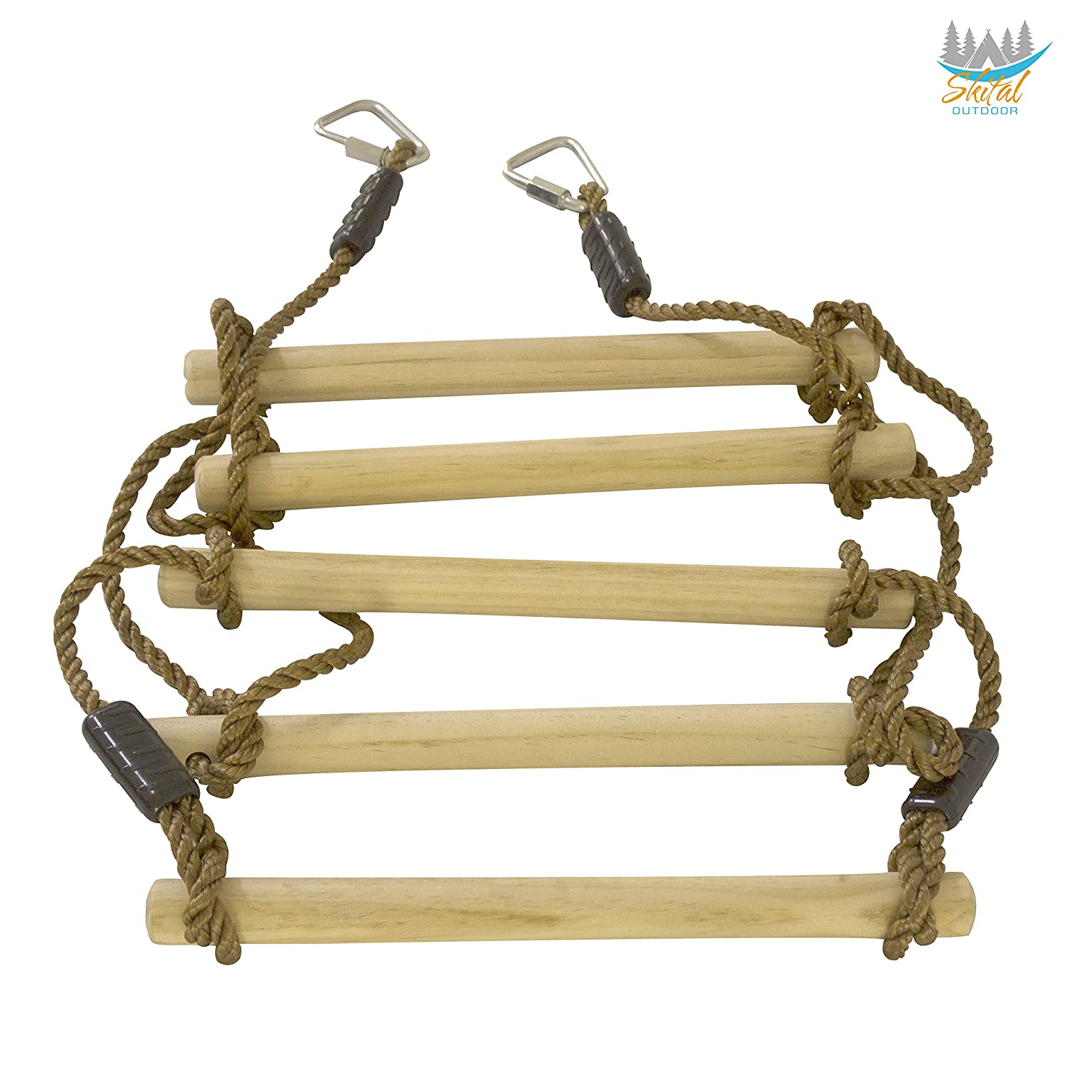 Skital Ladder Rope- Hanging Obstacle Extension for Ninjaline Kit- Obstacle Course for Kids- Fits All Ninja Kit Zipline Outdoor Games and Sports ...