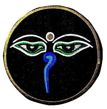 Amazon.com: Parche de dibujos animados Hindu Aum om Lotus ...