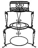 Tablecraft Farmhouse Collection 3-Piece Stackable Buffet Server (HBS13518), Black