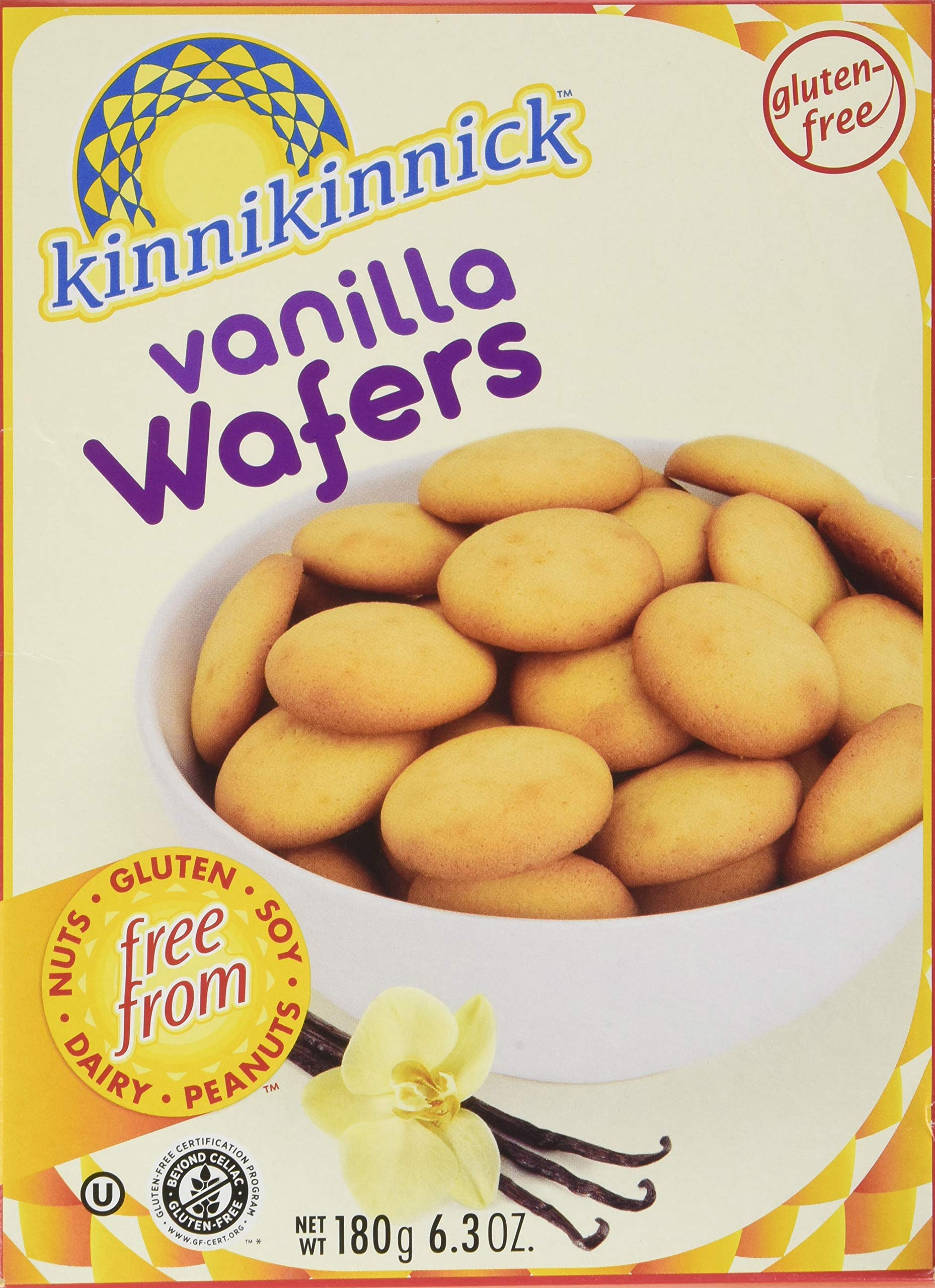 Kinnikinnick Vanilla Wafer Cookies 6.3 Ounces (Pack of 3) by Kinnikinnick