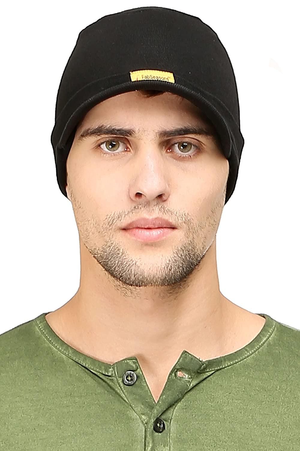 505d756c78266a FabSeasons Cotton Skull Cap (Black): Amazon.in: Sports, Fitness & Outdoors
