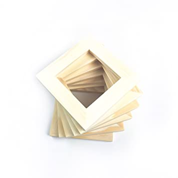 Amazon.com: 4x4 Wood Picture Frames - Set of 6 - Bulk Unfinished ...