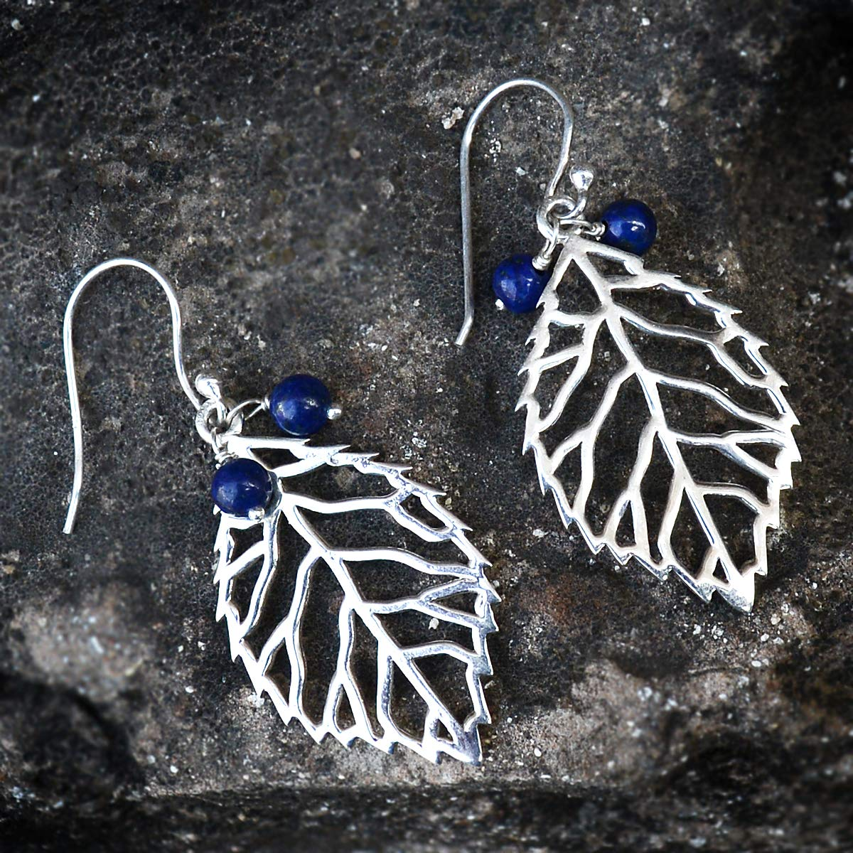Silvestoo Jaipur Lapis Lazuli Gemstone 925 Sterling Silver Earring PG-156042
