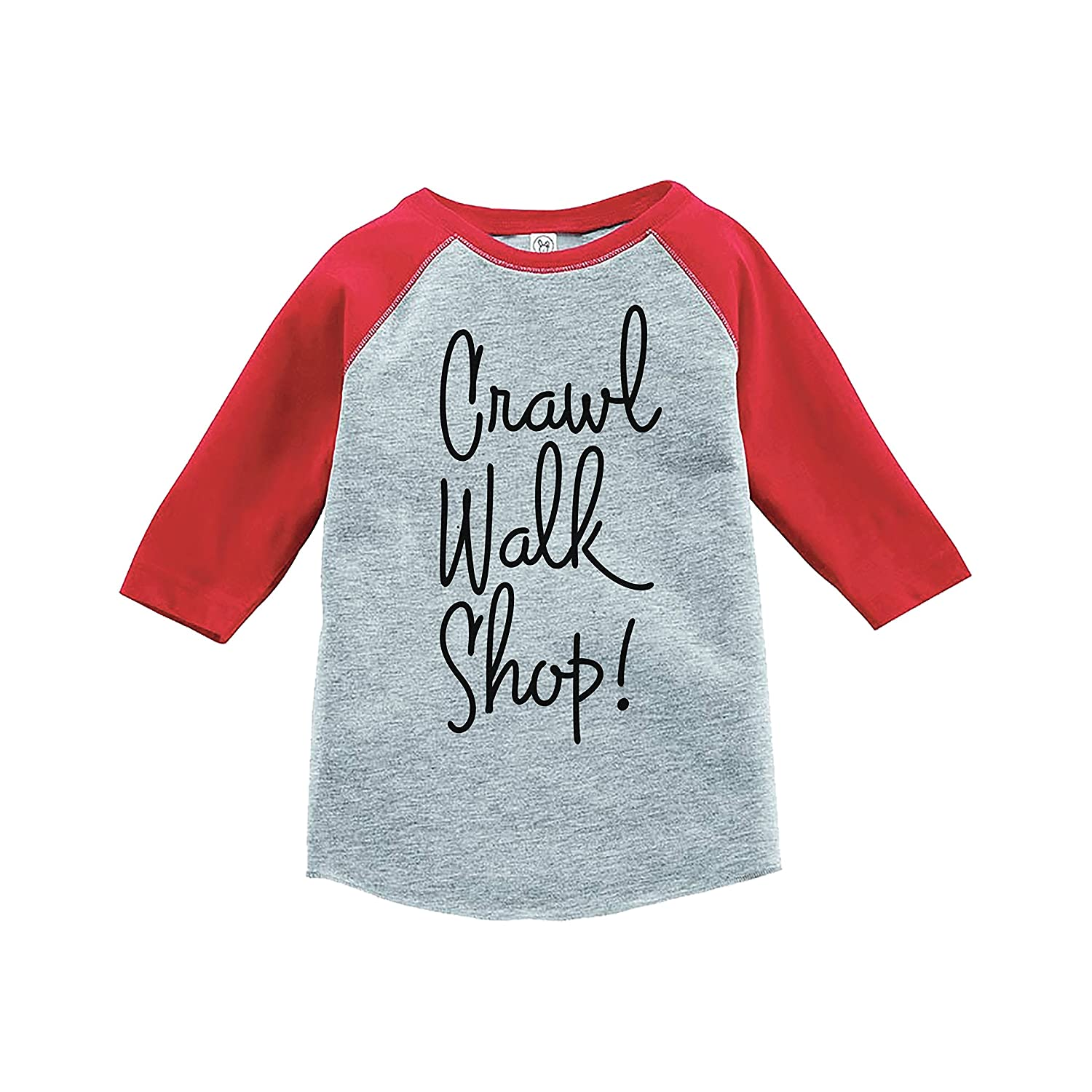7 ate 9 Apparel Kids Crawl Walk Shop Red Baseball Tee