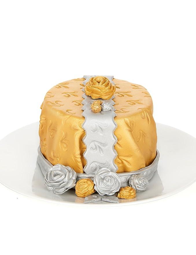Dekora - Cobertura para Tartas de Fondant de Color Oro- 2 de 100 gr: Amazon.es: Alimentación y bebidas