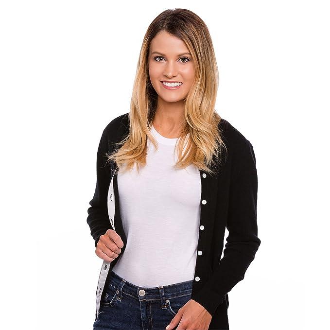 Amazon.com: De la Mujer cuello redondo 100% Cashmere ...