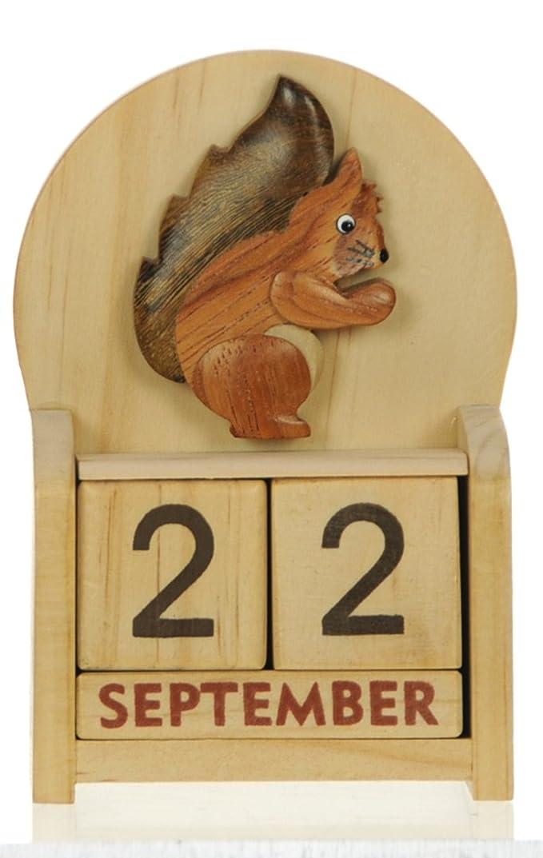 Écureuil : Calendrier Perpétuel en Bois : traditionnel fait main cadeau d'anniversaire et de Noël Idées cadeau de Noël : Taille : 10,5 X 7 X 3,5 Cm : achetez un insolite et Quirky Alternative &a