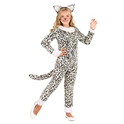 Girl's Snow Leopard Costume: Clothing