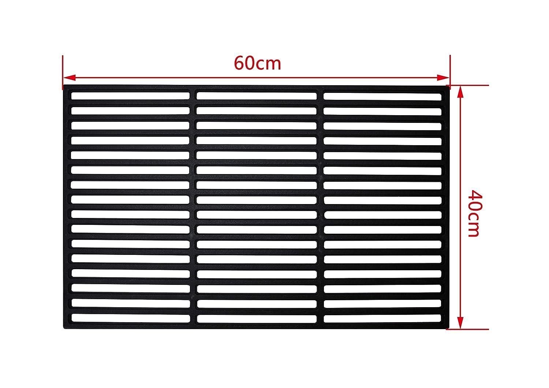 Jeising Profi Grillrost aus massiv Gusseisen Gr/ö/ße 60 x 40 cm passend f/ür viele verschiedene Grillger/äte