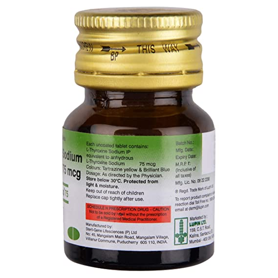 Thyroup 75 Bottle Of 120 Tablets Amazon In