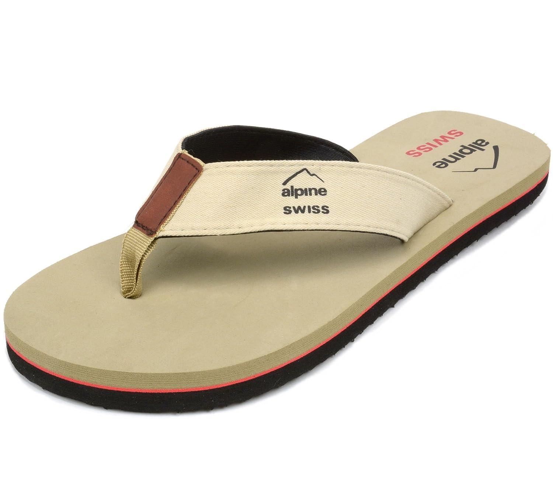 alpine swiss Men's Flip Flops Beach Sandals Lightweight EVA Sole Comfort Thongs By Alpine Swiss