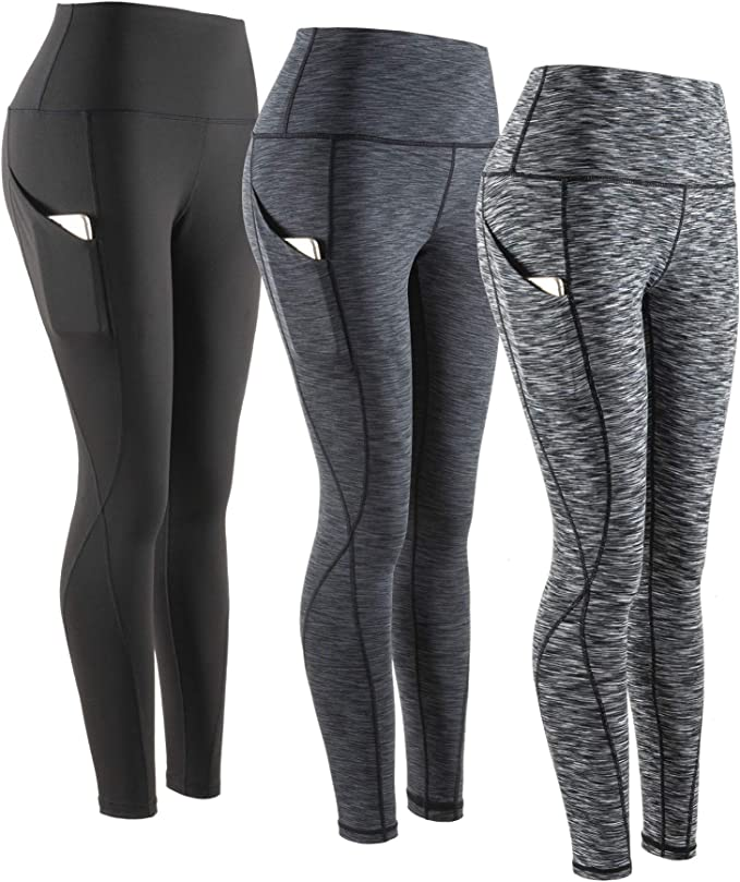 RTYou Women High Waist Yoga Pants Music Note Tummy Control Workout Stretch Sport Pants for Gym Exercise Fitness