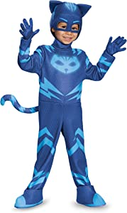Catboy Deluxe Toddler PJ Masks Costume, Medium/3T-4T