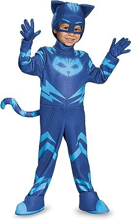 Amazon.com: Disfraz de niño gato, pijama con má ...