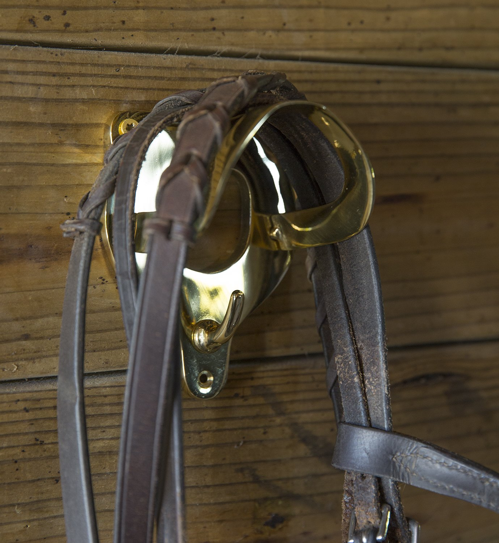 Intrepid International Brass Bridle Rack