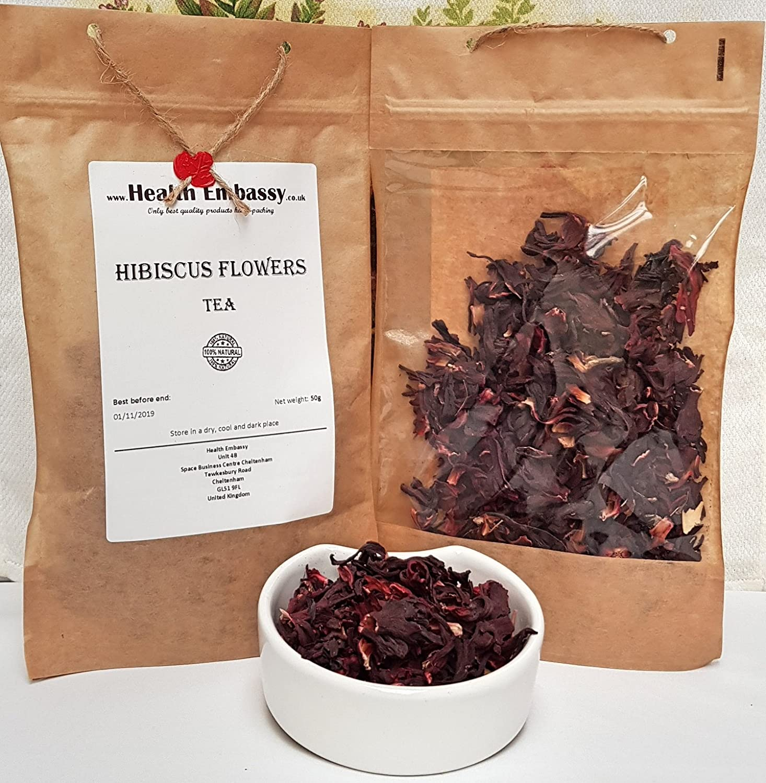 Amazon hibiscus dried flowers tea 50g health embassy 100 amazon hibiscus dried flowers tea 50g health embassy 100 natural grocery gourmet food izmirmasajfo