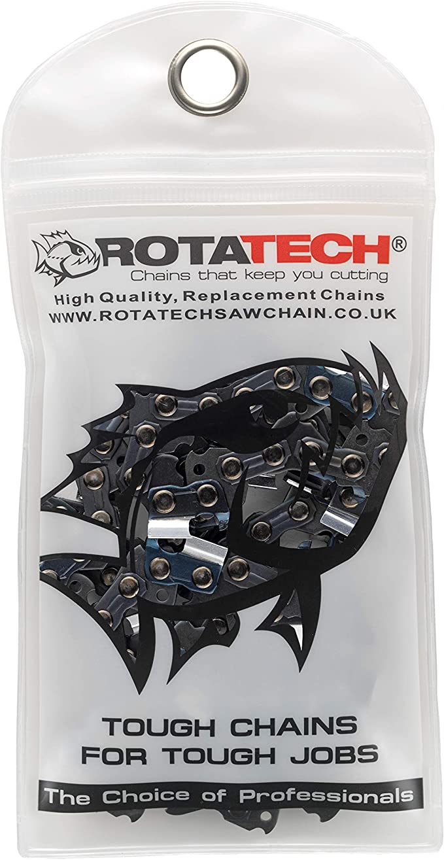 "Rotatech Motosierra Cadena Compatible con Blount Oregon 91 VG052E XTRAGUARD® - Recambio de cadena para motosierra, 52 Drive Loops, 3/8"" Pitch, 1.3mm de grosor - 0.050"""