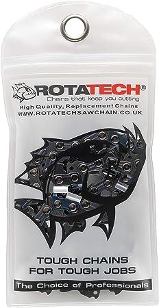 x2 Aut/éntica Rotatech de repuesto cadena para Black and Decker 40cm//16 Motosierra cadena Dos