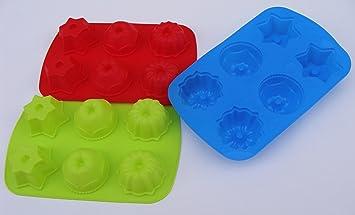 De moda de silicona molde para horno con forma de niños de moldes de flan
