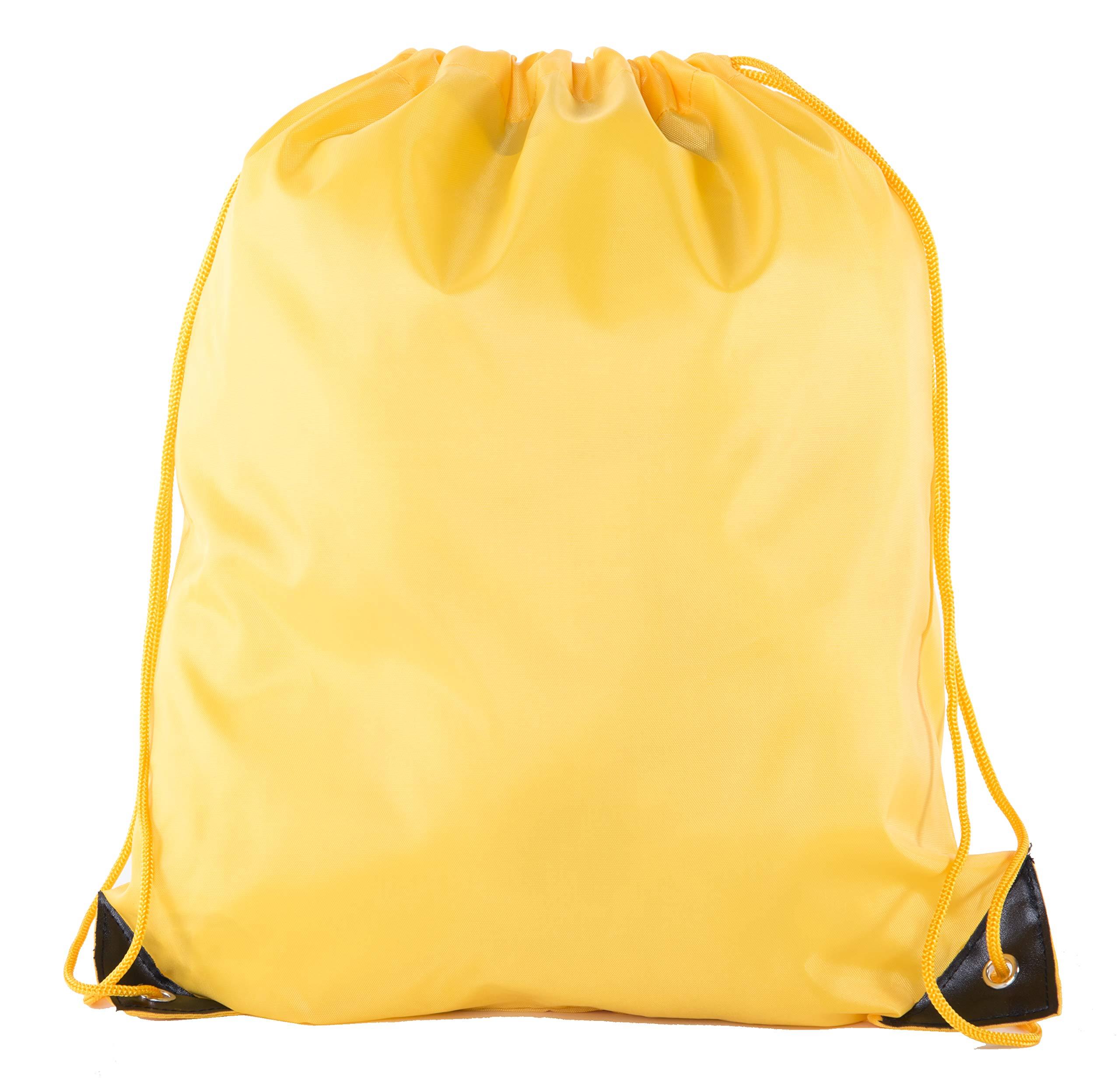 Mato & Hash Drawstring Bulk Bags Cinch Sacks Backpack Pull String Bags | 15 Colors | 1PK-100PK Available