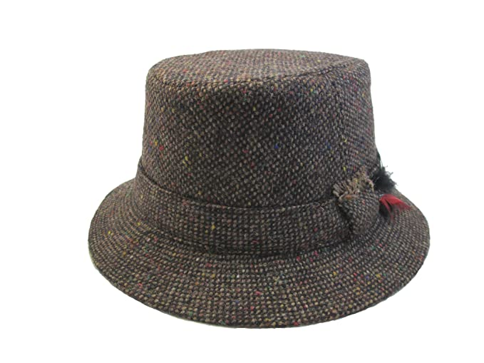 Men's Vintage Style Hats Hanna Hats Ireland Tweed Walking Hat Brown Tweed Made in Ireland $59.95 AT vintagedancer.com