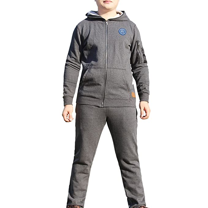 Sidiou Group Sudadera bordada & casual de 100% algodón de deporte con capucha, Cárdigan