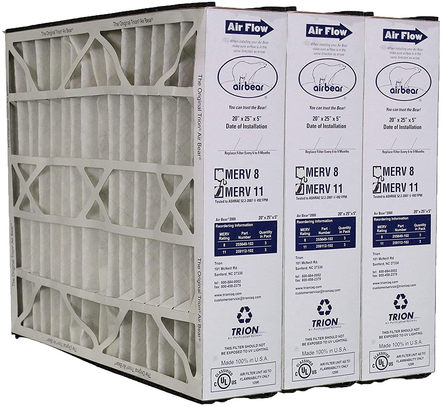 NEW Replacement Filter for Honeywell MERV 11 20x25x5 3-Pack Special