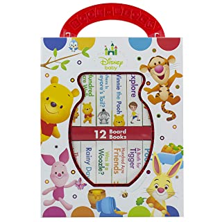 Disney Baby - Winnie the Pooh - My First Library Board Book Block 12-Book Set - PI Kids