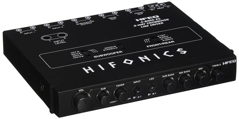 Hifonics HFEQ 1/2' Din 4 Band 2-Way EQ Cross