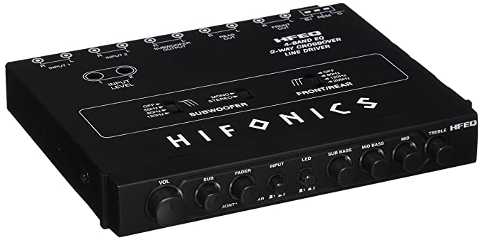 Clarion EQS755 7-Band Car Audio Graphic Equalizer with Front