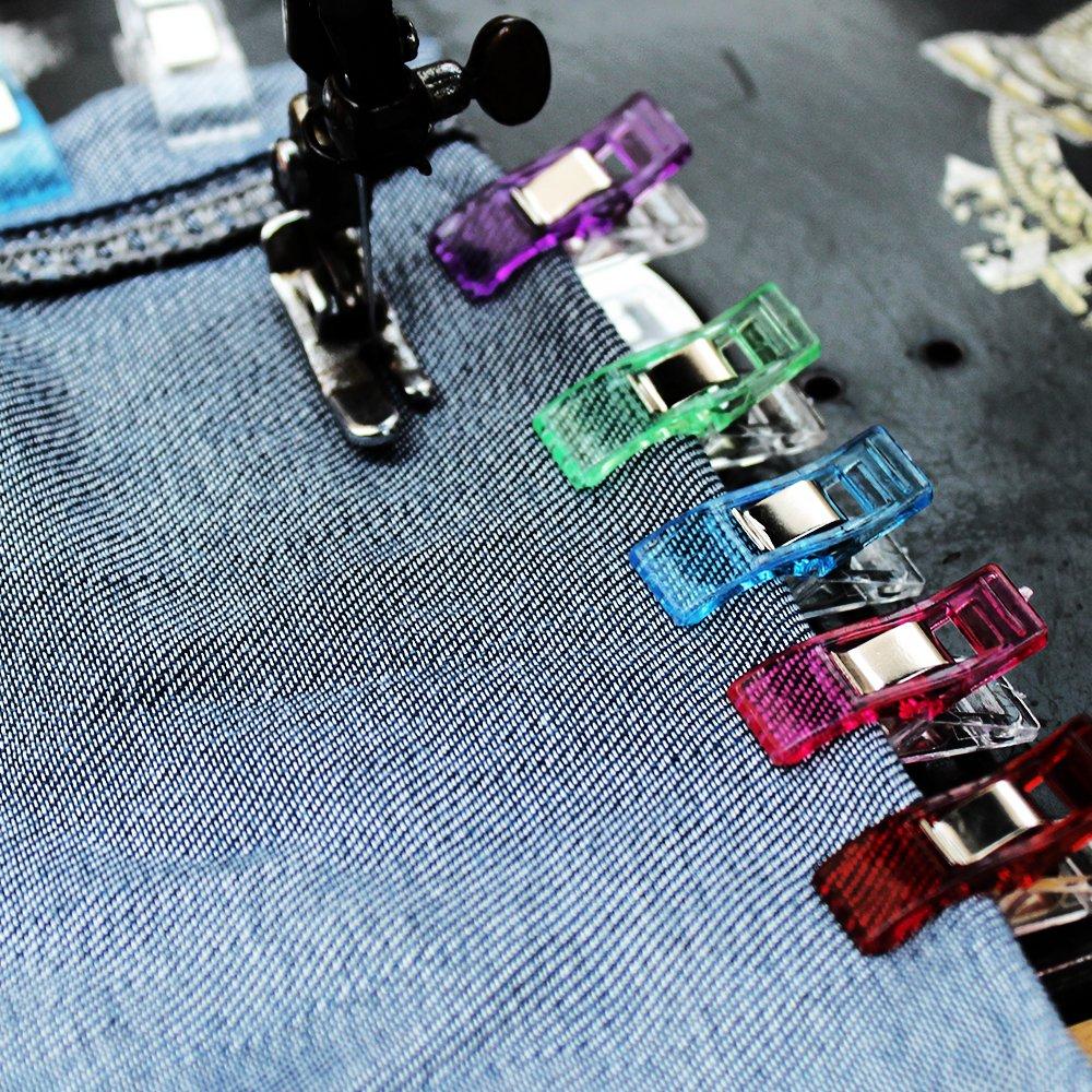 Clips peque/ños Pinzas de pl/ástico Accesorios de costura Pinzas para coser pl/ástico de Vistoso para coser Quilting Craft Clips TUXWANG Clips de costura 50pc 27 x 10 mm
