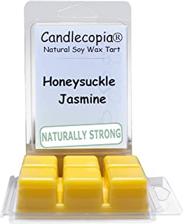 product image for Candlecopia Honeysuckle Jasmine Strongly Scented Hand Poured Vegan Wax Melts, 12 Scented Wax Cubes, 6.4 Ounces in 2 x 6-Packs