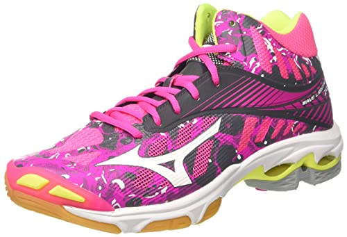 buy popular d565a 7786d Mizuno Women s Wave Lightning Z4 MID WOS Volleyball Shoes, Pink  (PinkGlo White
