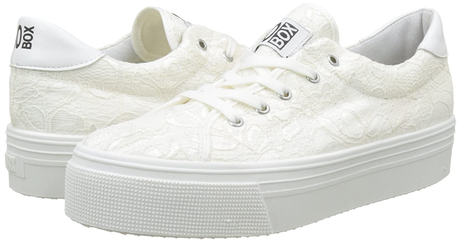 No Box Alma - Baskets - Femme - Blanc (Dentelle blanc) - 39