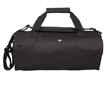 Case4Life Lightweight Black Water Resistant Duffle Gym Bag + Padded  Removable Shoulder Strap aa166cab79a28