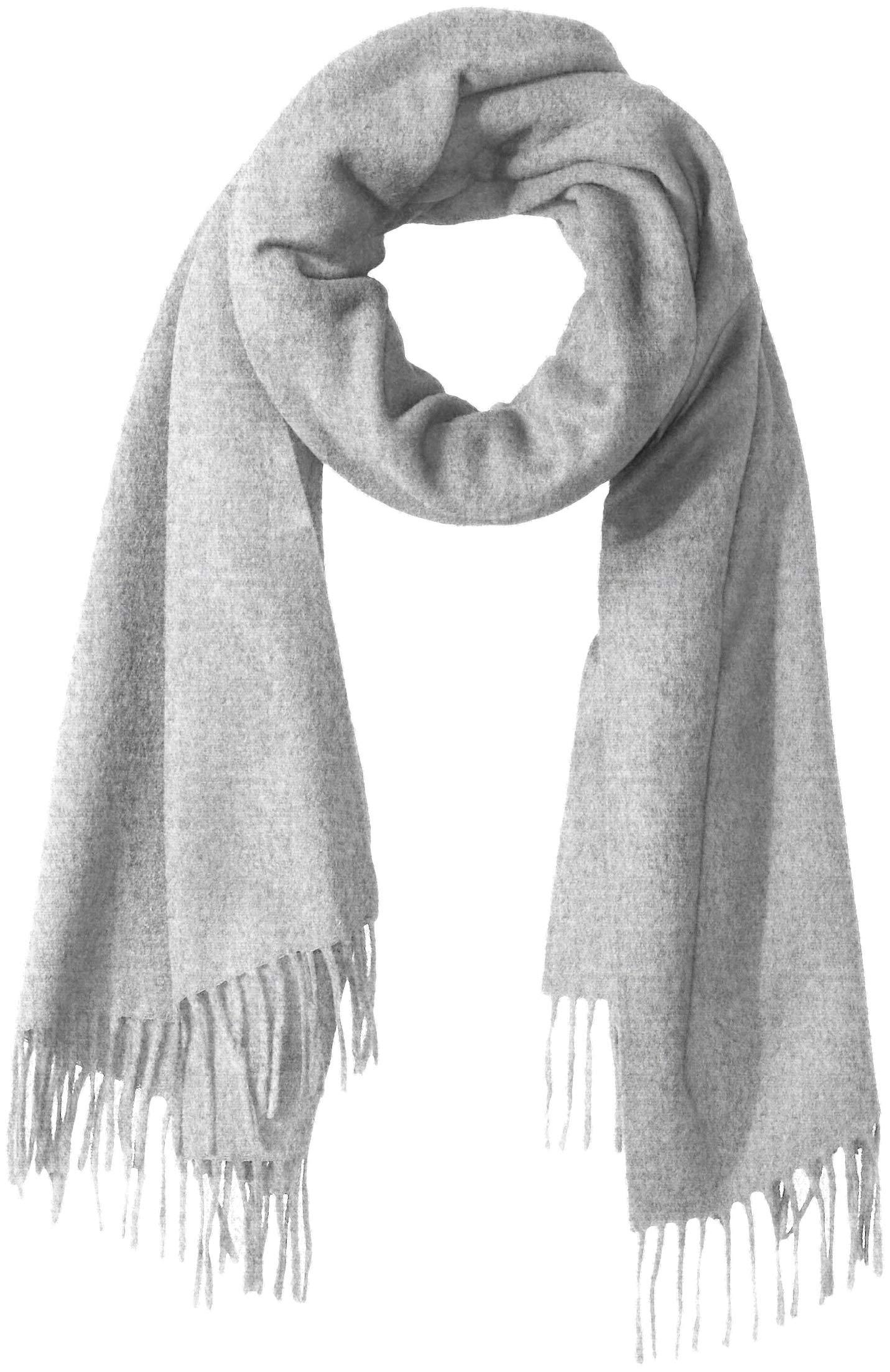 J.Lindeberg Men's Classic Wool Scarf, stone grey melange, One Size