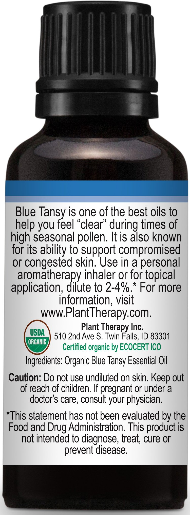 Plant Therapy USDA Certified Organic Blue Tansy Essential Oil. 100% Pure, Undiluted, Therapeutic Grade. 30 ml (1 oz). by Plant Therapy (Image #5)