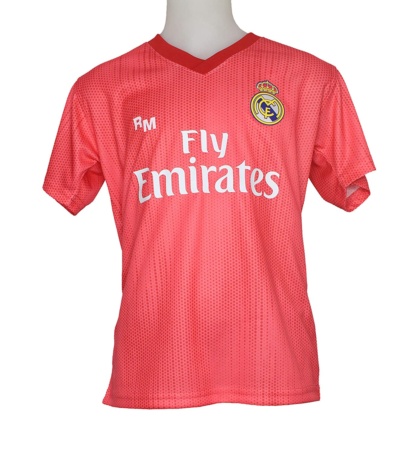 Camiseta - Personalizable - Tercera Equipación Replica Original Real Madrid 2018/2019: Amazon.es: Deportes y aire libre