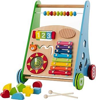 Kiddery Toys Wooden Learning Walker