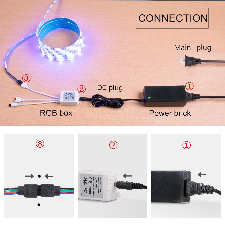 Wentop Led Light Strip Kit Dc12v Ul 12a Laptop Ac Power Adapters Of 144w With Short Circuit Protection Pasa El Mouse Para Ver La Imagen Ampliada