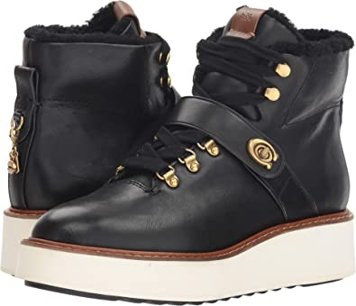 3fd1141b742 Coach Women s Urban Hiker with Signature Buckle Black Leather 5 ...