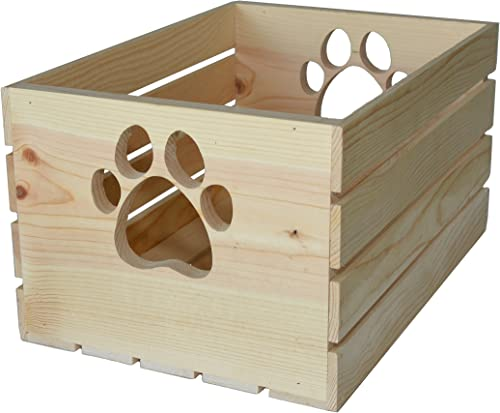MPI WOOD Crate with Paw Handle