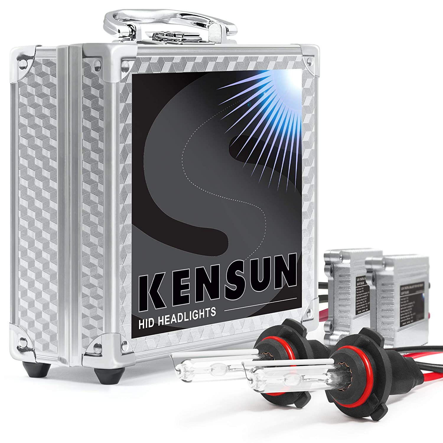 Hid Xenon Headlight Conversion Kit By Kensun 9006 2006 Jeep Liberty Low Beamshigh Beamswiring Diagramfuses 10000k 2 Year Warranty Automotive