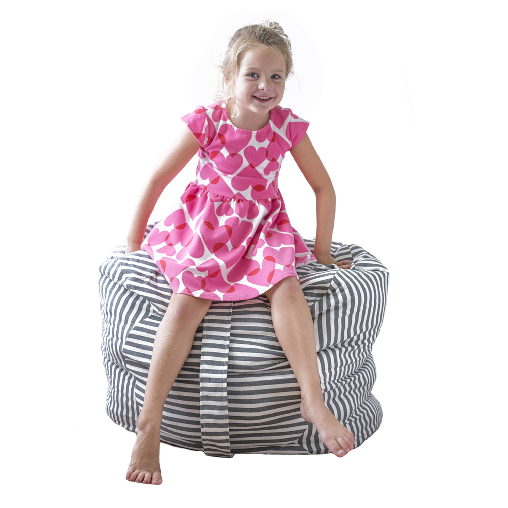 Sobel Products Kids Stuffed Animal Bean Bag Storage Chair - EXTRA LARGE - Store Toys Towels Blankets Pillows by Sobel Products