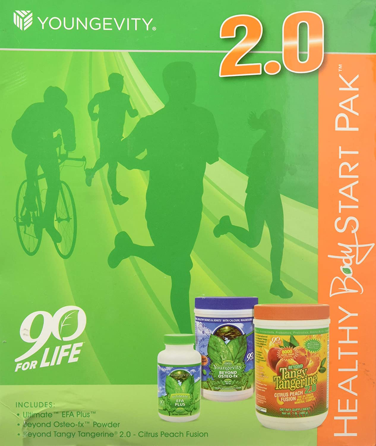 Youngevity Healthy Body Start Pack 2.0 Beyond Tangy Tangerine 2.0, Osteo FX Powder, Ultimate EFA Plus Worldwide Shipping by Youngevity