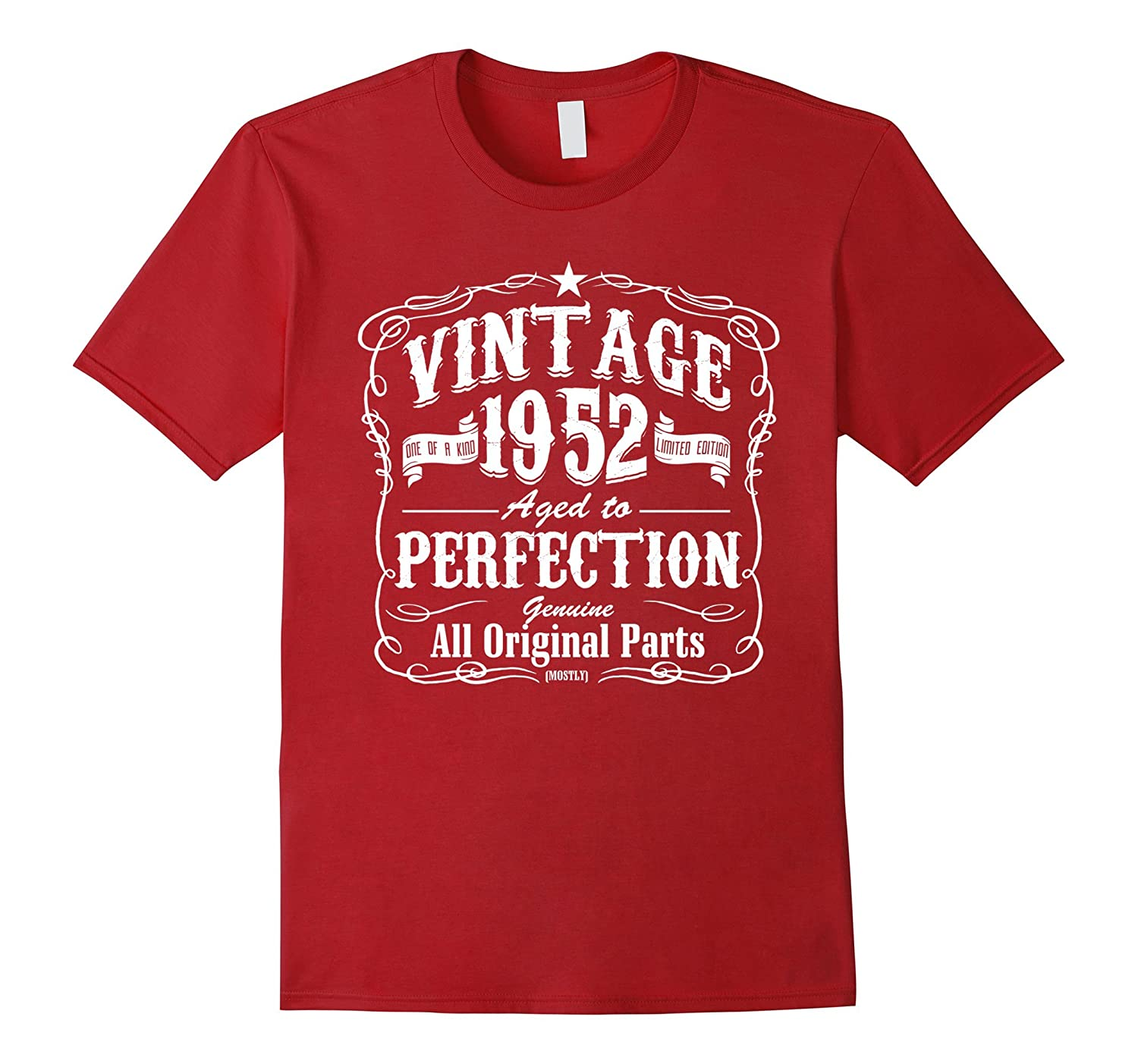 Vintage One Of A Kind 1952 Funny 65th Birthday T Shirts Vaci